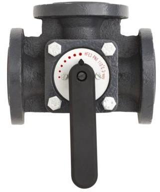 Клапан регулирующий, трехходовой, для применения с приводами AMB, kvs 280,0 м3/ч
